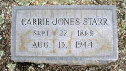 "Carolyn Emma ""Carrie"" <I>Jones</I> Starr"