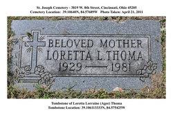 Loretta Lorraine <I>Agee</I> Thoma