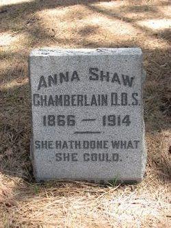 Anna <I>Shaw</I> Chamberlain