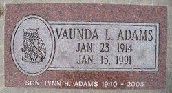 Vaunda L. <I>Reeves</I> Adams