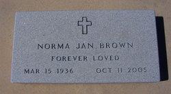 Norma Jan <I>Snyder</I> Brown