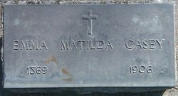 Emma Matilda  Wilhelmina <I>Zube</I> Casey