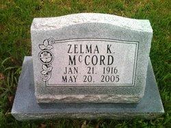 Zelma K McCord