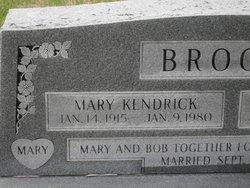 Mary <I>Kendrick</I> Brooks