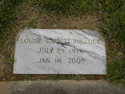 Louise <I>Garrett</I> Bullock