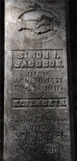 elizabeth van houton jacobus 1792 1871 find a grave memorial