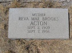 "Reva Mae ""Dixie"" <I>Brooks</I> Acton"