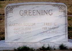 Martha Louise <I>Hamilton</I> Greening