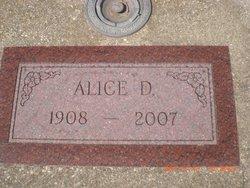 Alice D Albers