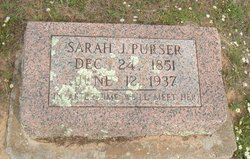 Sarah Jane <I>Sikes</I> Purser