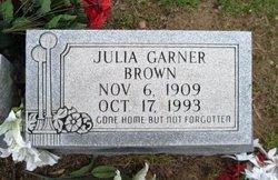 Julia <I>Garner</I> Brown