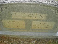 Mary Alpha <I>Watkins</I> Lewis