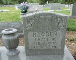 Grace M <I>Whitehurst</I> Bowden