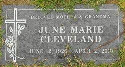 June Marie <I>Robie</I> Cleveland