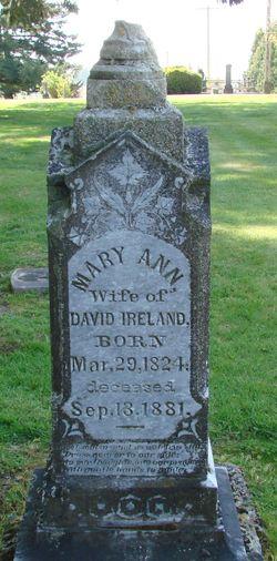 Mary Ann <I>Sanderson</I> Ireland