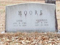 Lydia <I>Tubbs</I> Moore