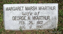 Margaret Alice <I>Marsh</I> McArthur