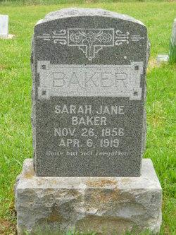 Sarah Jane <I>Sanders</I> Baker