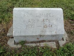 Minnie Maude <I>Mapes</I> Ashworth