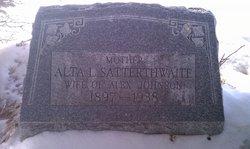 Alta Lillian <I>Satterthwaite</I> Johnson