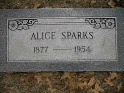 Alice <I>Lipscomb</I> Sparks