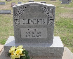 "Adament Lou ""Addye"" <I>Smith</I> Clements"