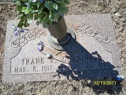 "Frank Rufus ""Bus"" Graninger"