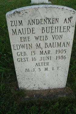 Maude <I>Buehler</I> Bauman