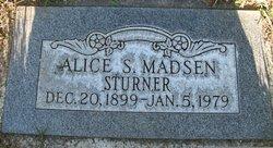 Alice S. <I>Madsen</I> Sturner