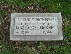 Jane <I>Parker</I> Bicknell