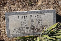 Julia Ann <I>Jordan</I> Bennett