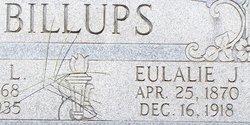Eulalie J <I>Latimer</I> Billups