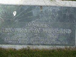 Ida Virginia <I>Turner</I> Weyland