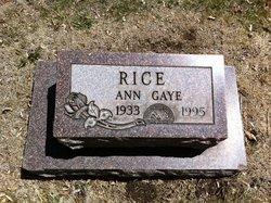 Anne <I>Gaye</I> Rice