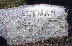 Bertha Kathrine <I>Paul</I> Altman