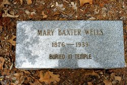 Mary Elizabeth <I>Baxter</I> Wells