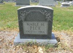 Mable <I>Hall</I> Pick