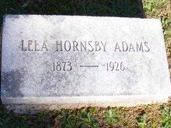 Lela <I>Hornsby</I> Adams