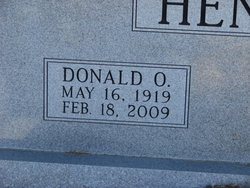 Donald O Hendrix