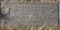 CPL Walter D. Hayen