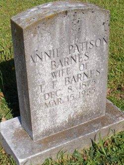Annie <I>Patison</I> Barnes