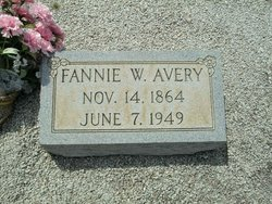 Fannie <I>Walker</I> Avery