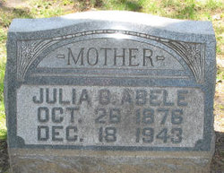 Julia Regina Margaretha <I>Graebner</I> Abele