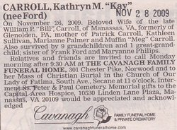 "Kathryn M ""Kay"" <I>Ford</I> Carroll"