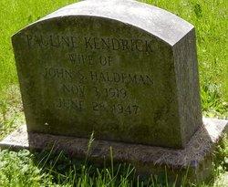 Pauline <I>Kendrick</I> Haldeman