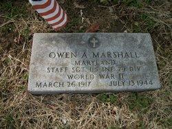 Sgt Owen A. Marshall