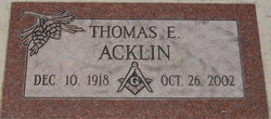 Thomas Edwin Acklin