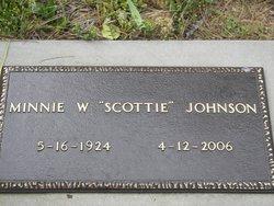 """Minnie Ora """"Scottie"""" <I>Wainscott</I> Johnson"""