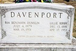 Rev Benjamin Dunklin Davenport