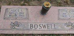 Alice Lee <I>Jobe</I> Boswell